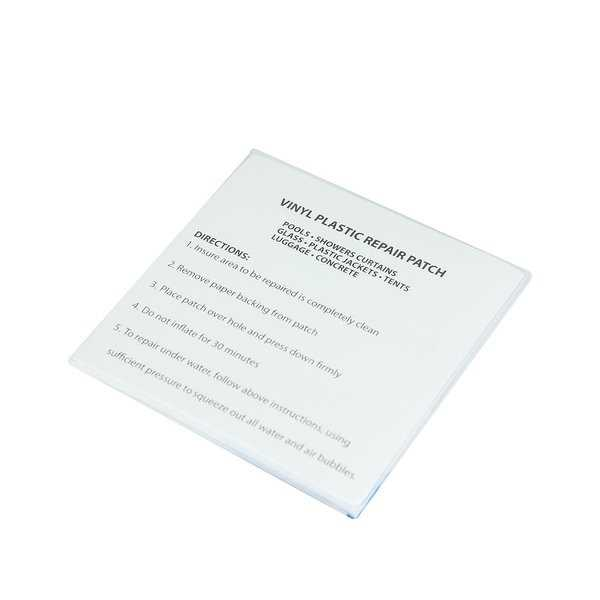 Pack of 5 Plastic Repair Patches for Vinyl Inflatables - Clear