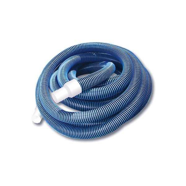 Blue Extruded EVA In-Ground Swimming Pool Vacuum Hose with Swivel Cuff - 50' x 1.5'